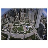 Aerial view of a park, Millennium Park, Chicago, I
