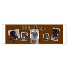 I like Pugs! Bumper sticker