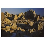 Rock formations on a landscape, Badlands National