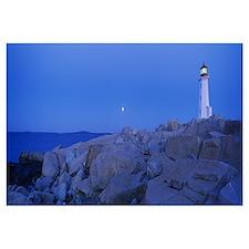 Lighthouse on the coast, Peggys Cove Lighthouse, N