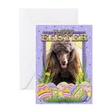 Chocolate poodle Greeting Cards