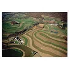 Aerial view of a farmland, Pennsylvania