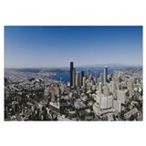 Aerial view of a city, Seattle, Washington State