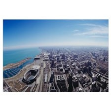 Aerial view of a city, Chicago, Illinois
