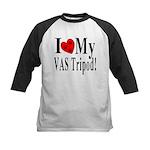 I Love My VAS Tripod Kids Baseball Jersey