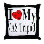 I Love My VAS Tripod Throw Pillow