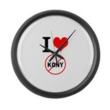 I Heart Stop Kony Large Wall Clock