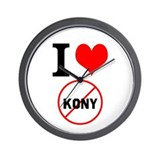 I Heart Stop Kony Wall Clock