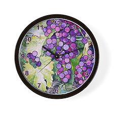 grapes Wall Clock