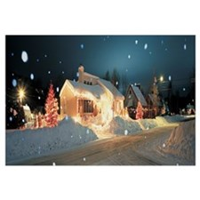 Holiday Lights, Laurentide, Quebec, Canada