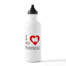I Love My Pomeranian Water Bottle