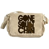 Gone Squatchin' Brown Distres Messenger Bag