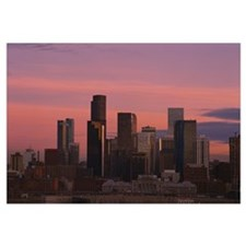 City skyline at sunset, Denver, Colorado