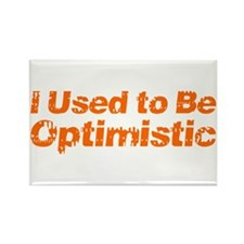 I Used to Be Optimistic Rectangle Magnet (100 pack