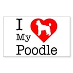 I Love My Poodle Sticker (Rectangle 50 pk)
