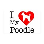 I Love My Poodle 38.5 x 24.5 Wall Peel