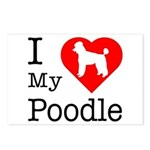 I Love My Poodle Postcards (Package of 8)