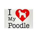 I Love My Poodle Rectangle Magnet (100 pack)