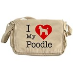 I Love My Poodle Messenger Bag