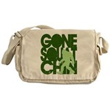 Gone Squatchin' Green Distres Messenger Bag