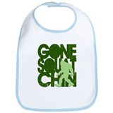 Gone Squatchin' Green Distres Bib