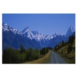 Road running through a landscape, Mt Cook, Souther