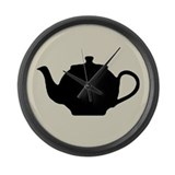Tea Pot Large Wall Clock