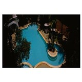 High angle view of a swimming pool, Hotel Parisuth