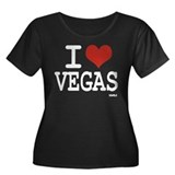 I love Vegas Women's Plus Size Scoop Neck Dark T-S