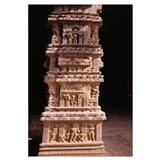 Sculptures carved on a column, Tamil Nadu, India