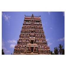 Low angle view of a temple, Chidambaram Temple, Ch