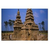 Tourists in front of a temple, Shore Temple, Mahab