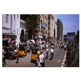 Traffic on the road, Parrys Corner, Chennai, Tamil