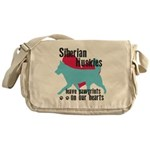 Husky Pawprints Messenger Bag
