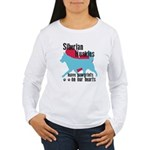 Husky Pawprints Women's Long Sleeve T-Shirt