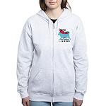 Husky Pawprints Women's Zip Hoodie