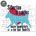 Husky Pawprints Puzzle