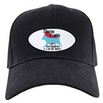 Husky Pawprints Black Cap