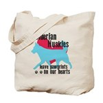 Husky Pawprints Tote Bag