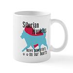 Husky Pawprints Mug
