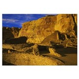 Ruins of a monument, Anasazi Ruins, Chaco Canyon,