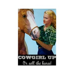 Cowgirl Up Fridge Magnet