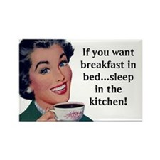 Breakfast in Bed Fridge Magnet