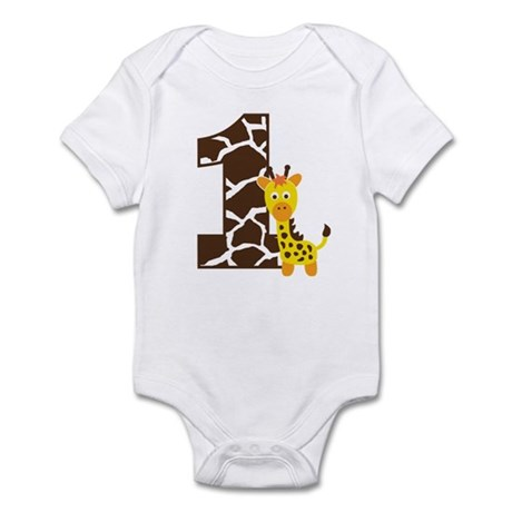 Giraffe 1st Birthday Infant Bodysuit