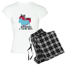 Bull Terrier Pawprints Pajamas
