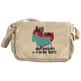 Bull Terrier Pawprints Messenger Bag