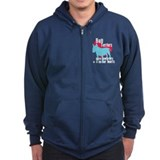 Bull Terrier Pawprints Zip Hoody
