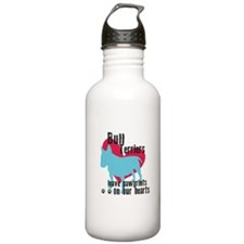 Bull Terrier Pawprints Water Bottle