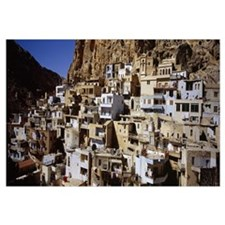 Town on a hillside, Maaloula, Syria