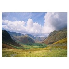 Clouds over a landscape, Stool End, Langdale Fell,